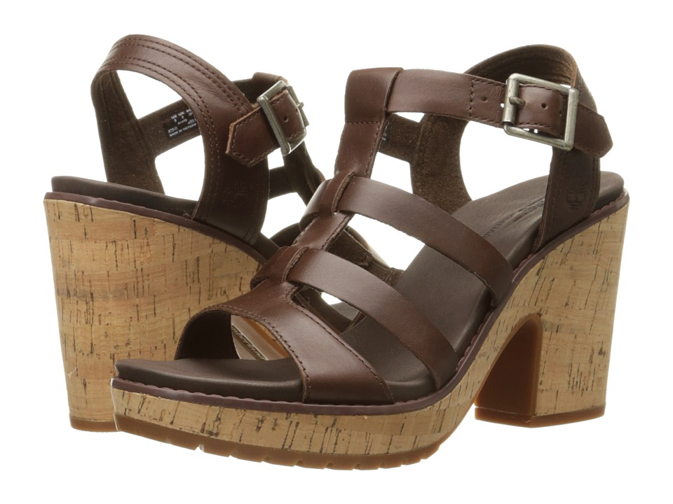 Timberland Roslyn Fisherman Sandal (Dark Brown) High Heels