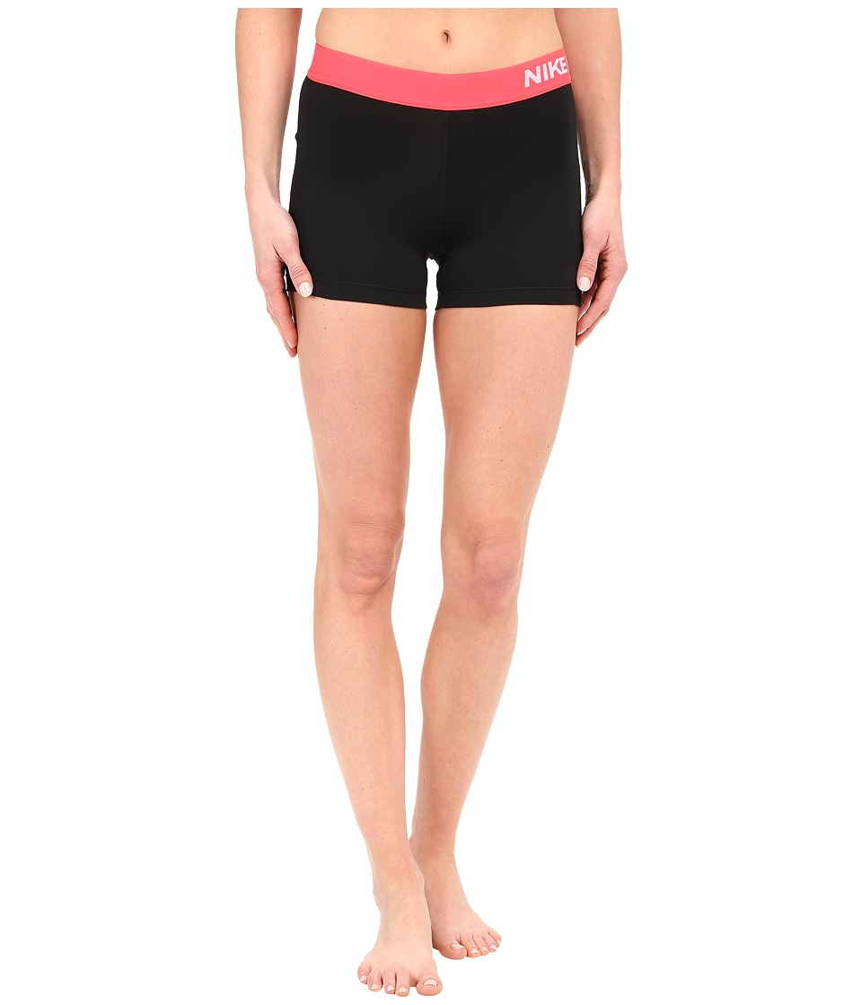 Nike - Pro 3 Cool Compression Training Short (Black/Bright Crimson/White) Women's Shorts