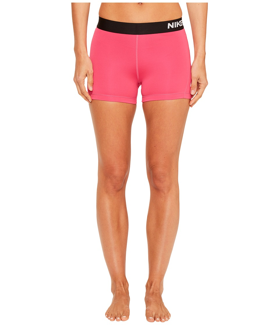 Nike - Pro 3 Cool Compression Training Short (Vivid Pink/White) Women's Shorts