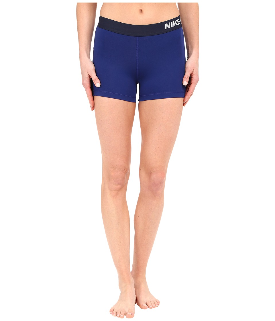 Nike - Pro 3 Cool Compression Training Short (Deep Royal Blue/White) Women's Shorts