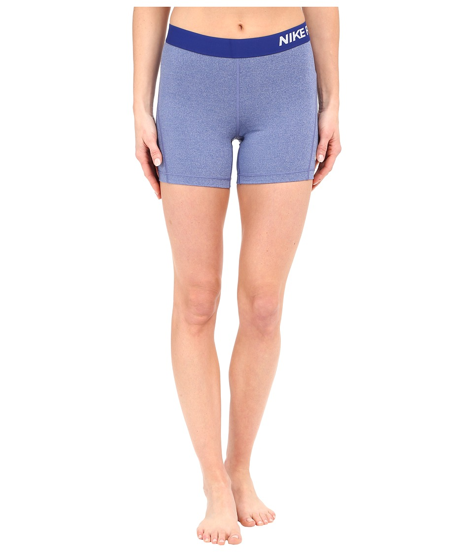 Nike - Pro 5 Cool Training Short (Deep Royal Blue/Heather/White) Women's Shorts