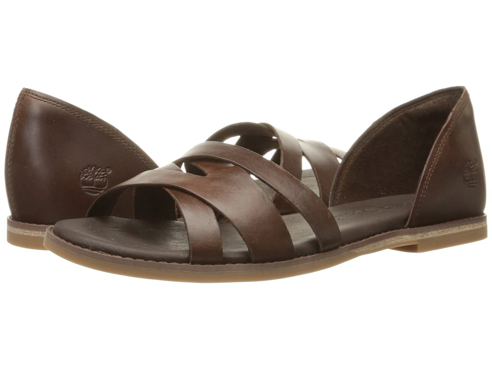 Timberland Caswell Closed Back Sandal (Dark Brown) Women