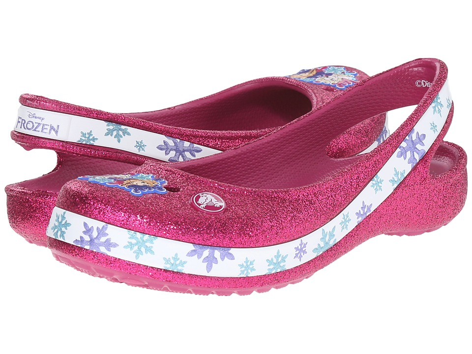 Crocs Kids - Genna II Frozen Flat (Toddler/Little Kid/Big Kid) (Berry) Girls Shoes