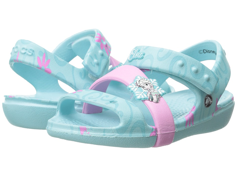 Crocs Kids - Keeley Frozen Fever Sandal (Toddler/Little Kid) (Ice Blue) Girls Shoes