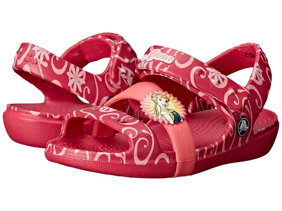 Crocs Kids - Keeley Frozen Fever Sandal (Toddler/Little Kid) (Raspberry) Girls Shoes