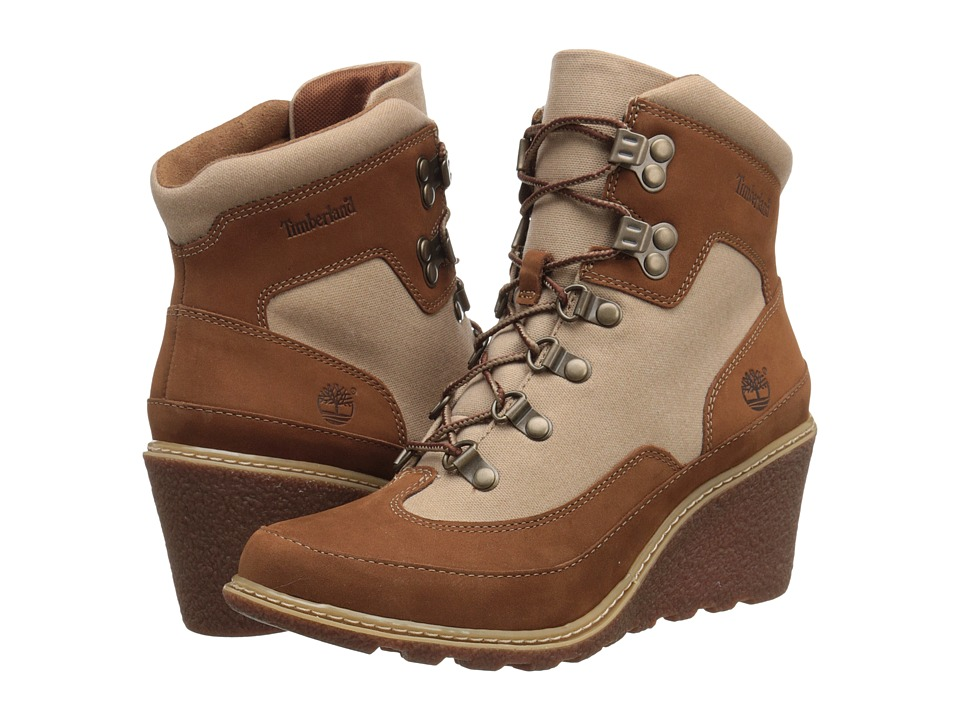 Timberland - Amston Hiker (Rust Nubuck with Tan Waxed Canvas) Women's Boots