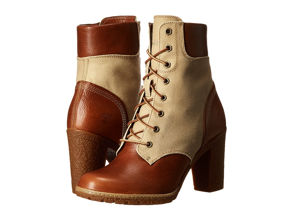 Timberland Glancy 6 Boot (Buckthorne Brown Full Grain with Dark Tan Waxed Canvas) Women
