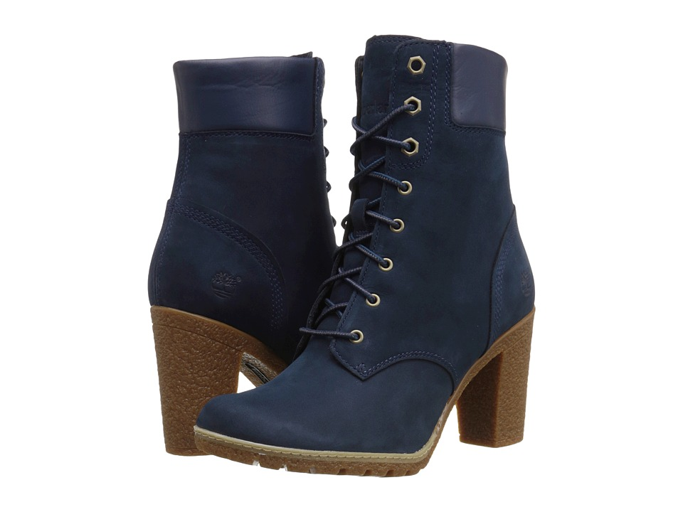 Timberland - Earthkeepers Glancy 6 Boot (Navy Nubuck) Women's Dress Lace-up Boots