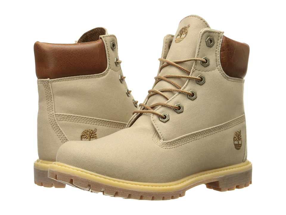 Timberland - 6 Premium Boot (Tan Waxed Canvas) Women