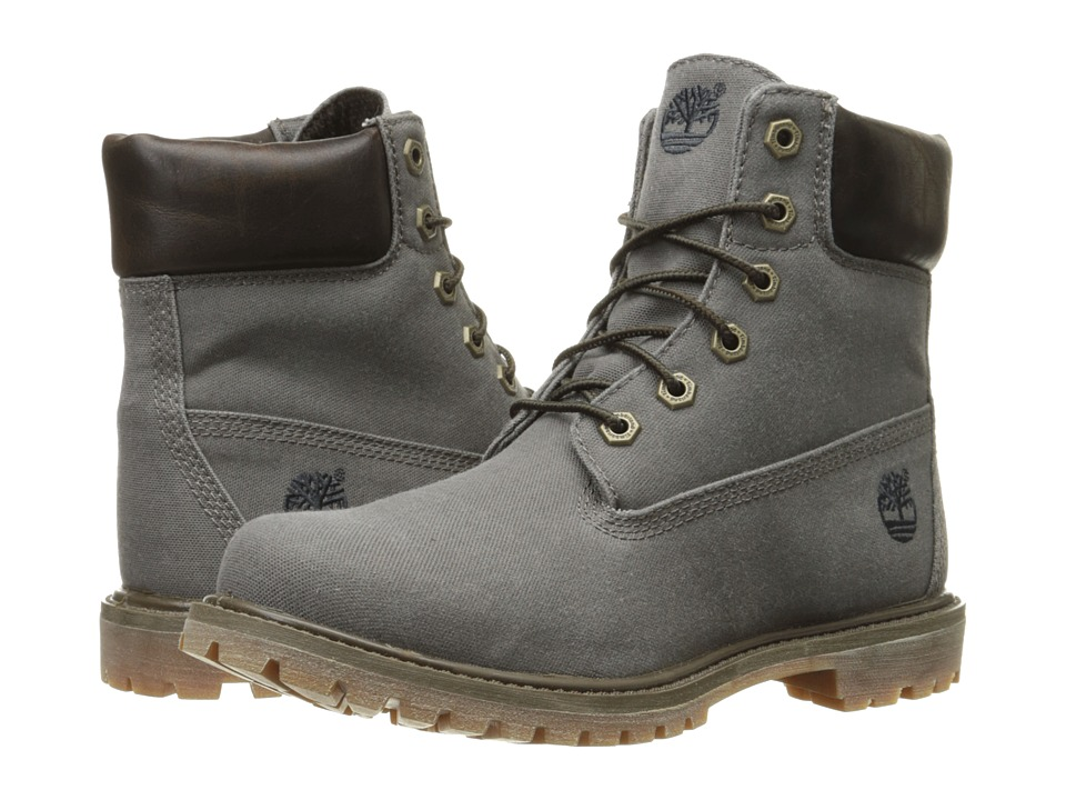 Timberland - 6 Premium Boot (Dark Olive Waxed Canvas) Women