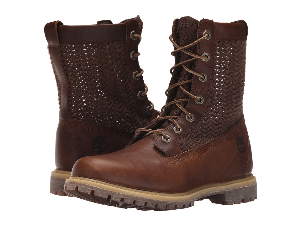 Timberland - Timberland Authentics Open Weave 6 Boot (Medium Brown with Brown Weave) Women's Boots
