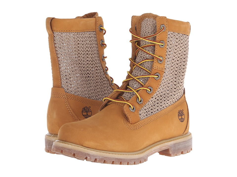 Timberland Timberland Authentics Open Weave 6 Boot (Wheat Nubuck with Tan Weave) Women