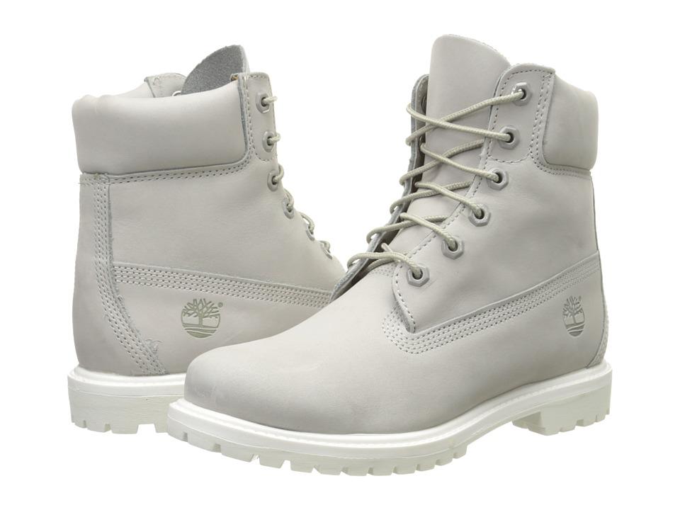 Timberland - 6 Premium Boot (Light Grey Nubuck) Women