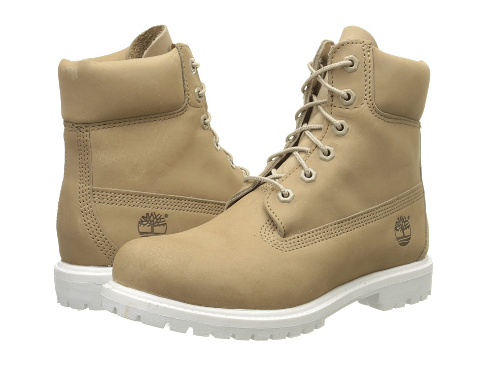 Timberland - 6 Premium Boot (Bone Nubuck) Women's Lace-up Boots