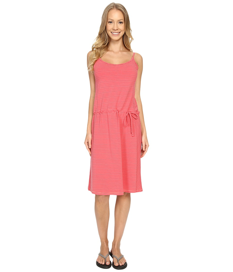 Columbia - Aria Dress (Coral BLoom Stripe) Women's Dress