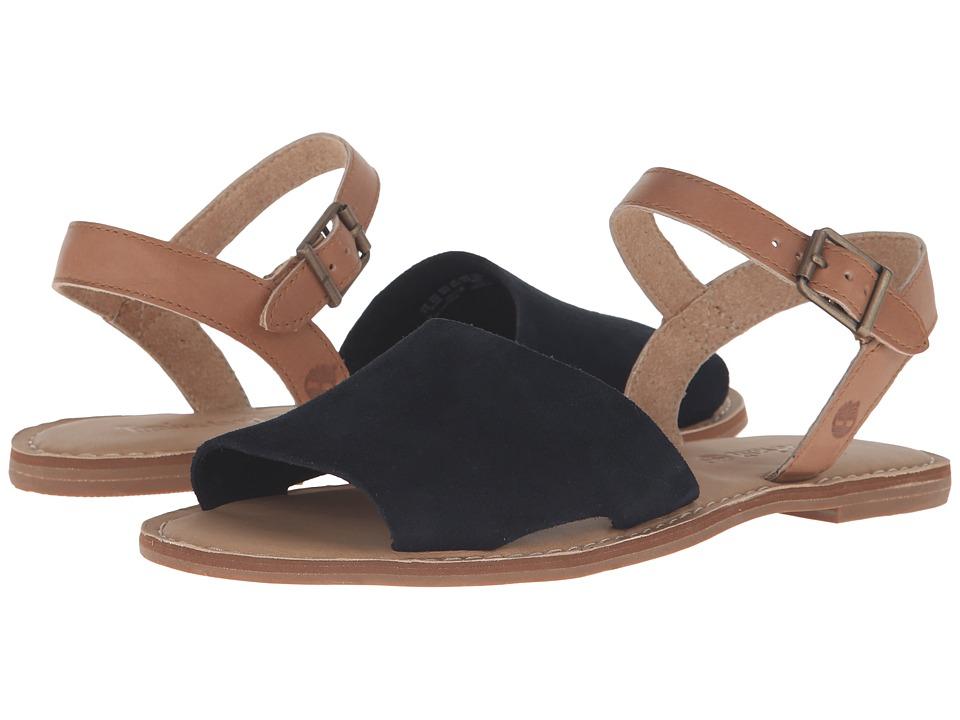 Timberland Sheafe Y-Strap Sandal (Black Suede) Girls Shoes