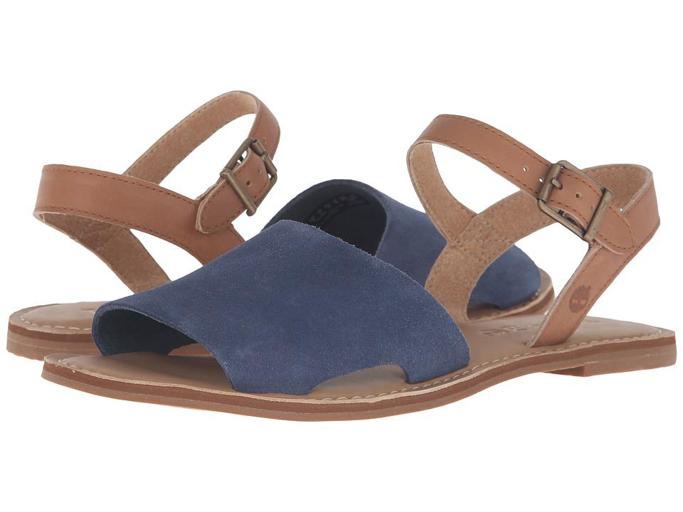 Timberland Sheafe Y-Strap Sandal (Vintage Indigo Suede) Girls Shoes