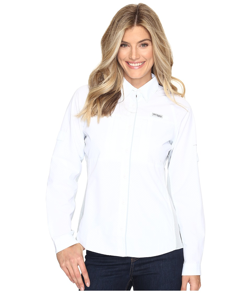 Columbia - Ultimate Catch Zerotm Long Sleeve Shirt (White/Cirrus Grey) Women's Long Sleeve Button Up