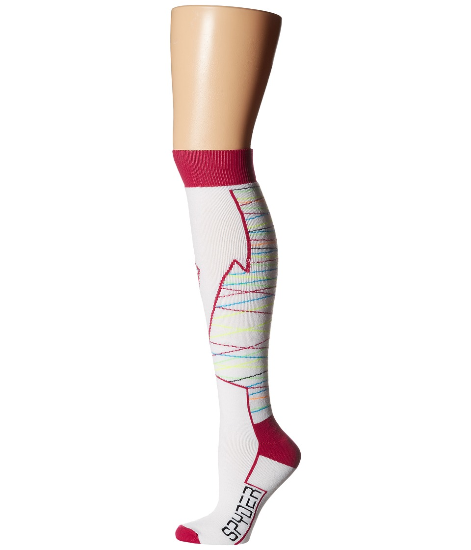Spyder - Orycle Sock (White/Wild) Women's Knee High Socks Shoes