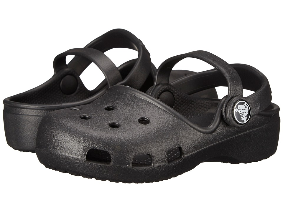 Crocs Kids - Karin Clog K (Toddler/Little Kid) (Black) Girls Shoes