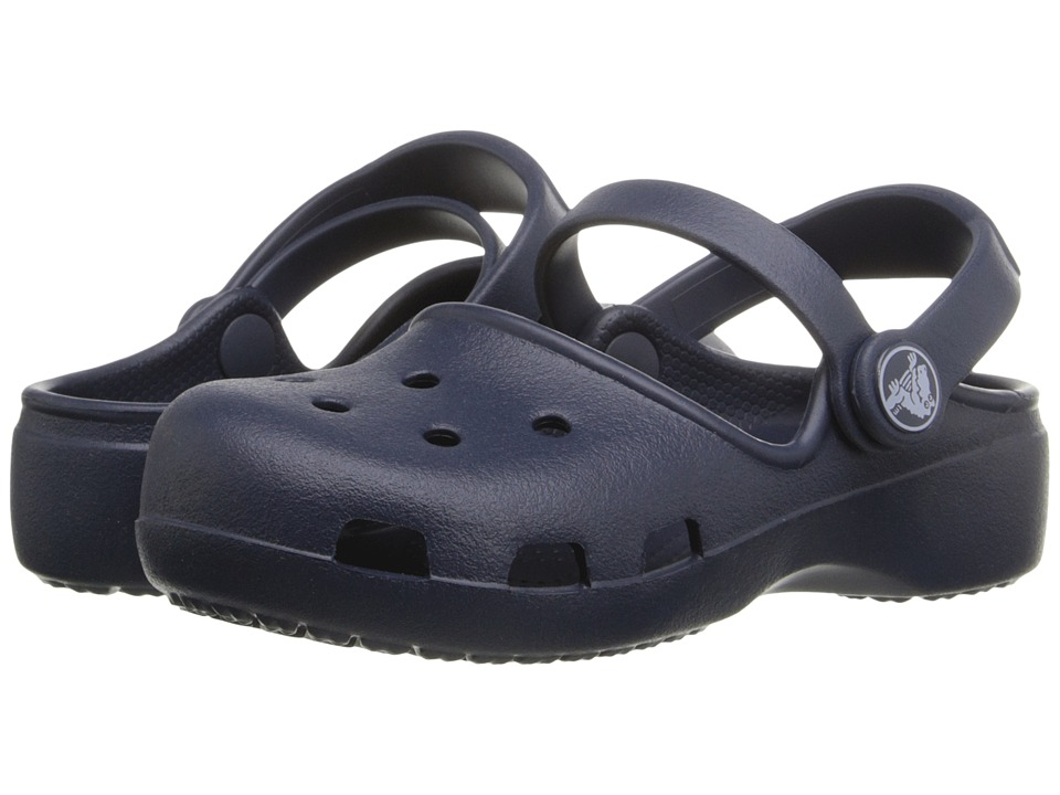 Crocs Kids - Karin Clog K (Toddler/Little Kid) (Navy) Girls Shoes