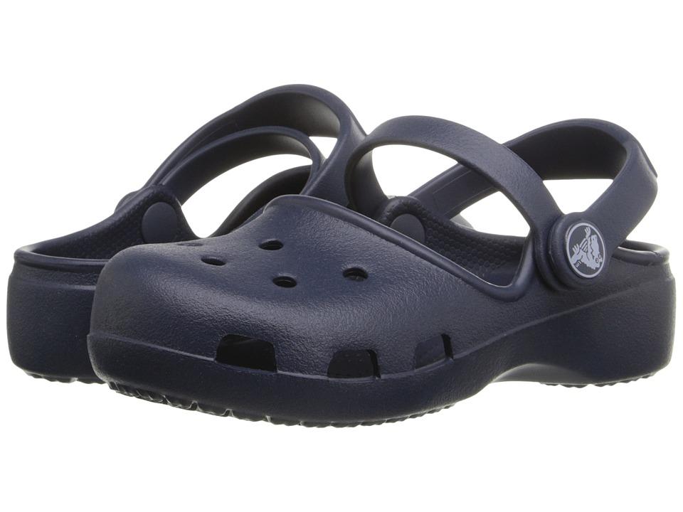 Crocs Kids - Karin Clog K (Toddler/Little Kid) (Navy) Girls Shoes