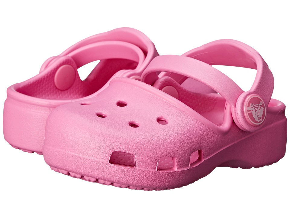 Crocs Kids - Karin Clog K (Toddler/Little Kid) (Party Pink) Girls Shoes