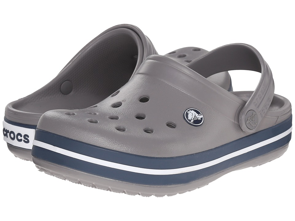 Crocs Kids - Crocband Clog (Toddler/Little Kid) (Smoke/Navy) Kids Shoes