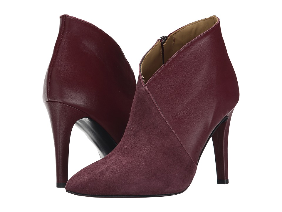 Massimo Matteo Leather Suede Bootie (Burgundy) Women