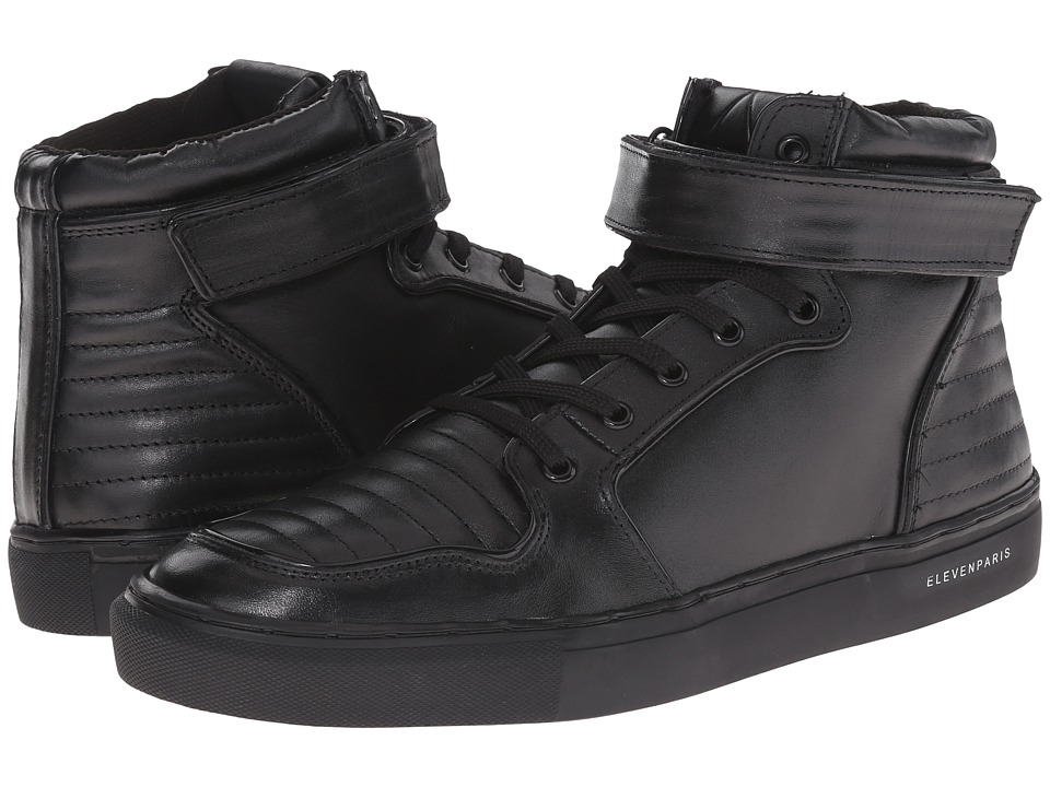 Eleven Paris - Sneaker-Cross (Black Leather) Men's Shoes