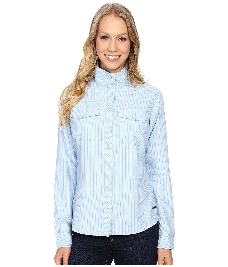 Mountain Khakis - Trail Creek Long Sleeve Shirt (Morning Sky) Women's Clothing
