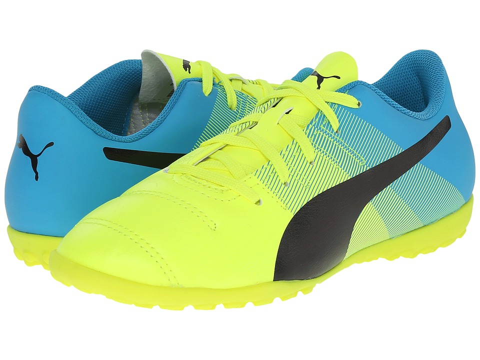 Puma Kids - evoPOWER 4.3 TT Jr (Little Kid/Big Kid) (Safety Yellow/Black/Atomic Blue) Kids Shoes