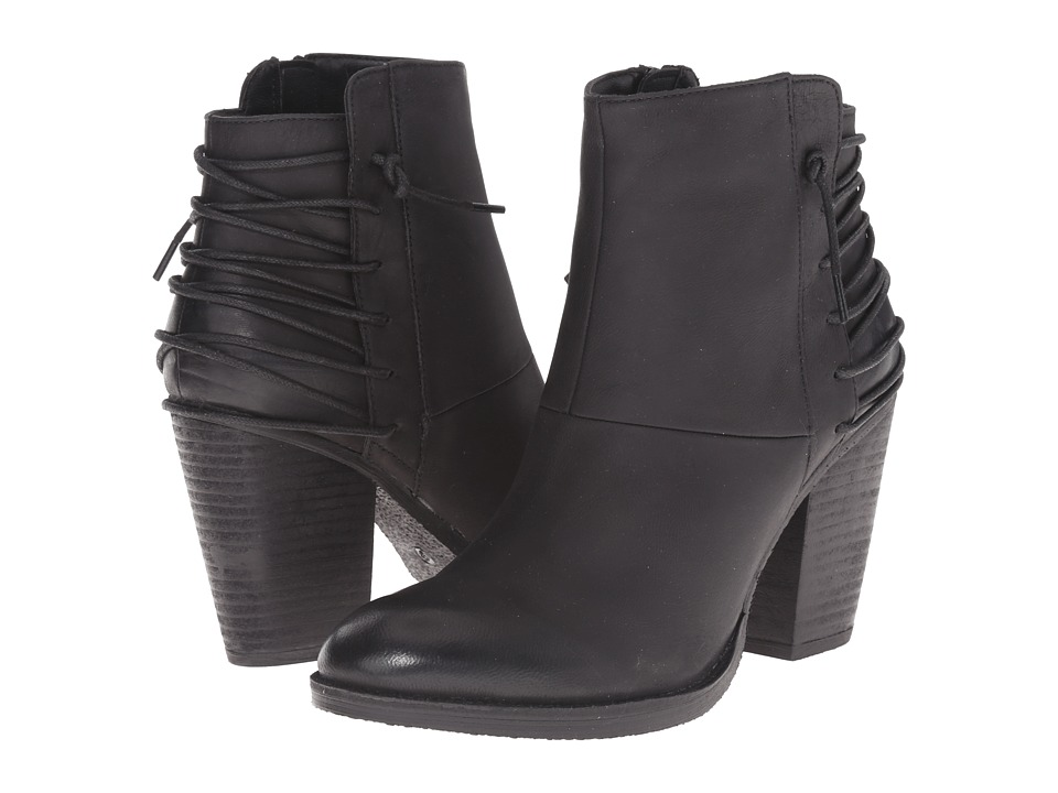 Steve Madden - Raglin (Black Leather) Women
