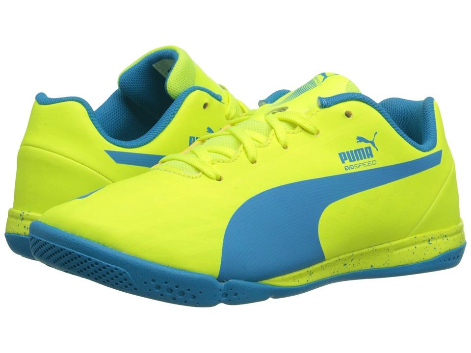 Puma Kids - evoSPEED Star IV Jr (Little Kid/Big Kid) (Safety Yellow/Atomic Blue) Kids Shoes