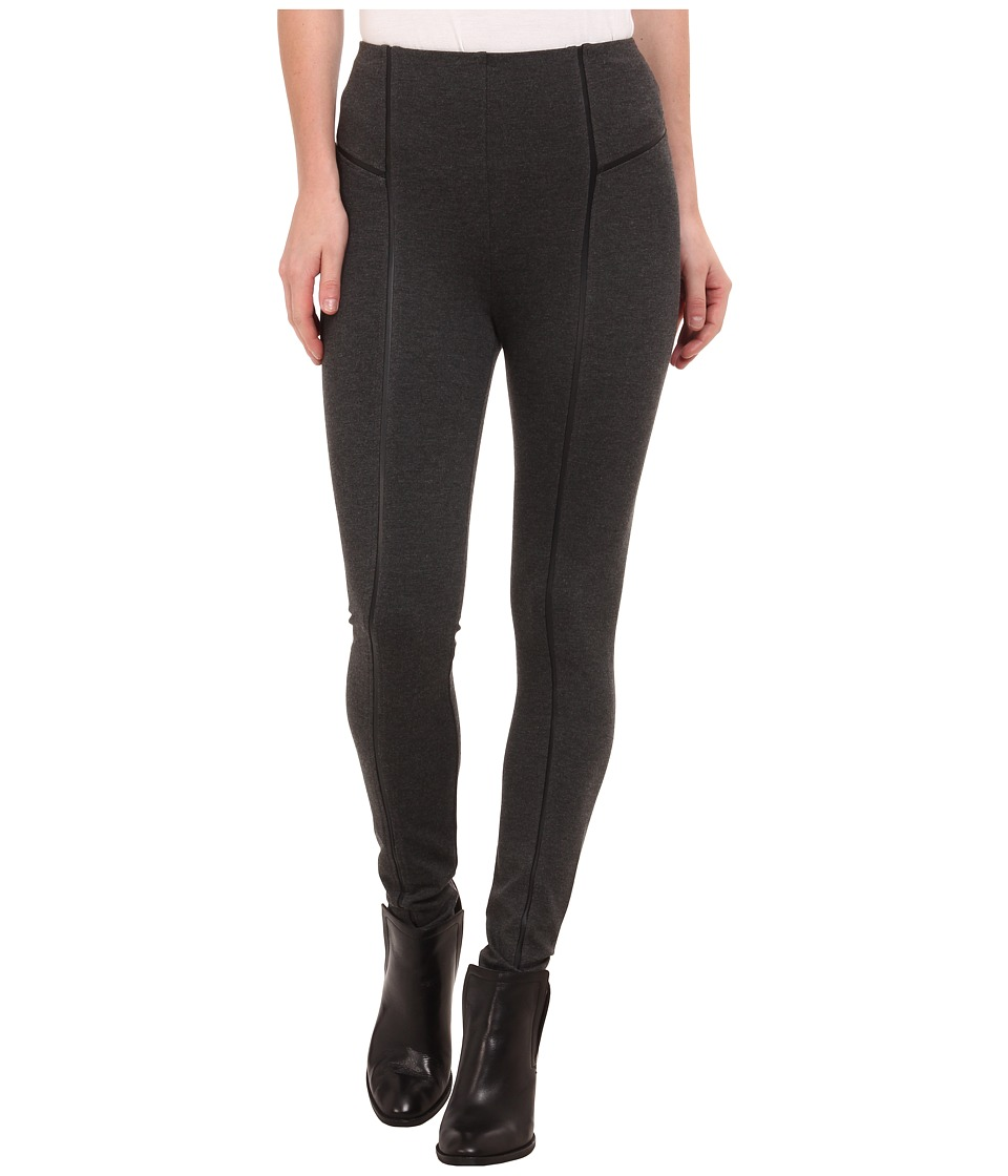 Lysse Leather Inset Leggings (Charcoal) Women