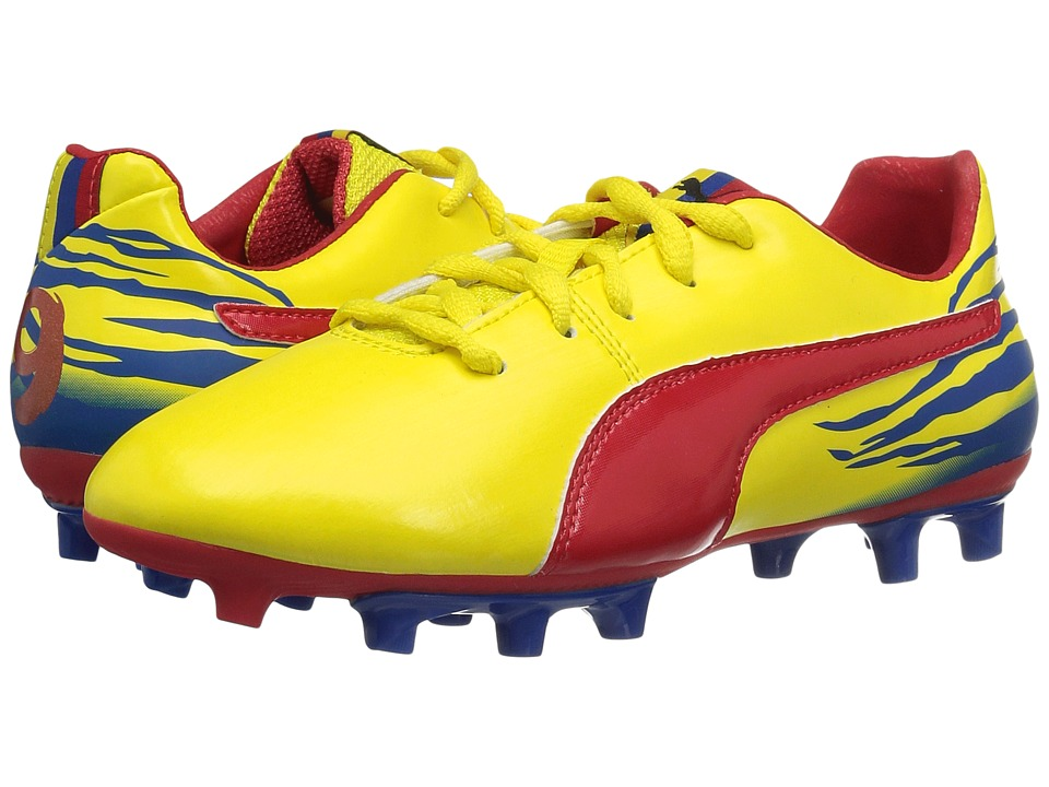Puma Kids - Falcao V2 FG Jr (Little Kid/Big Kid) (Blazing Yellow/Nautical Blue/High Risk Red) Kids Shoes