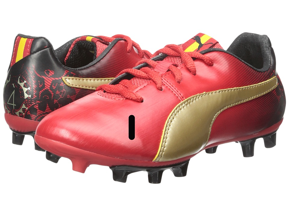 Puma Kids Cesc V2 FG Jr Soccer (Little Kid/Big Kid) (High Risk Red/Team Gold/Black) Kids Shoes
