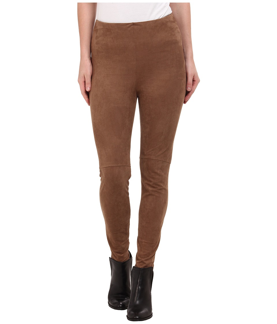 Lysse - High Waist Suede Leggings (Latte) Women's Casual Pants