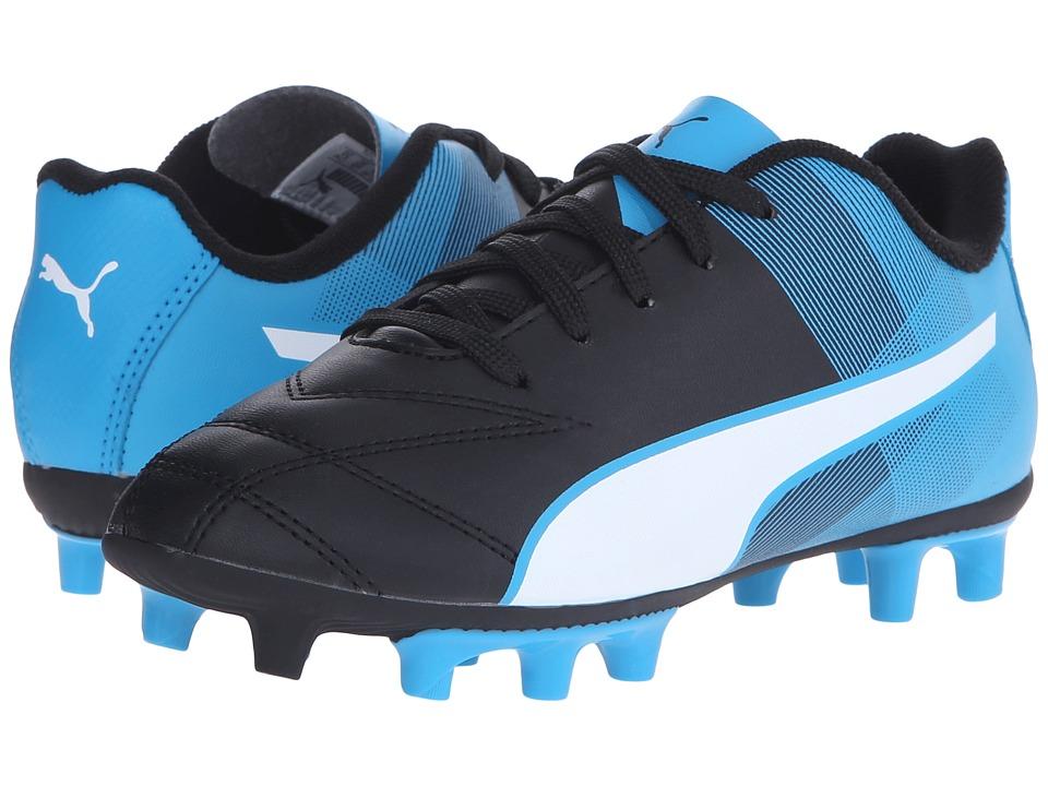Puma Kids - Adreno II FG Jr (Little Kid/Big Kid) (Black/White/Atomic Blue) Kids Shoes