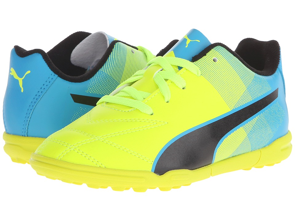 Puma Kids - Adreno II TT Jr Soccer (Toddler/Little Kid/Big Kid) (Safety Yellow/Atomic Blue/Black) Kids Shoes