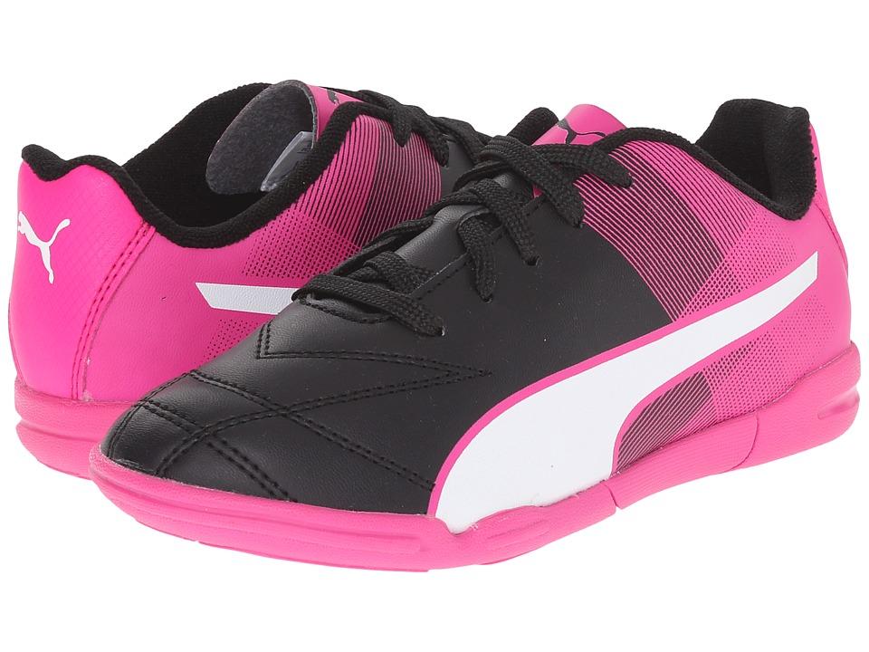 Puma Kids - Adreno II IT Jr (Toddler/Little Kid/Big Kid) (Black/White/Pink Glo) Kids Shoes