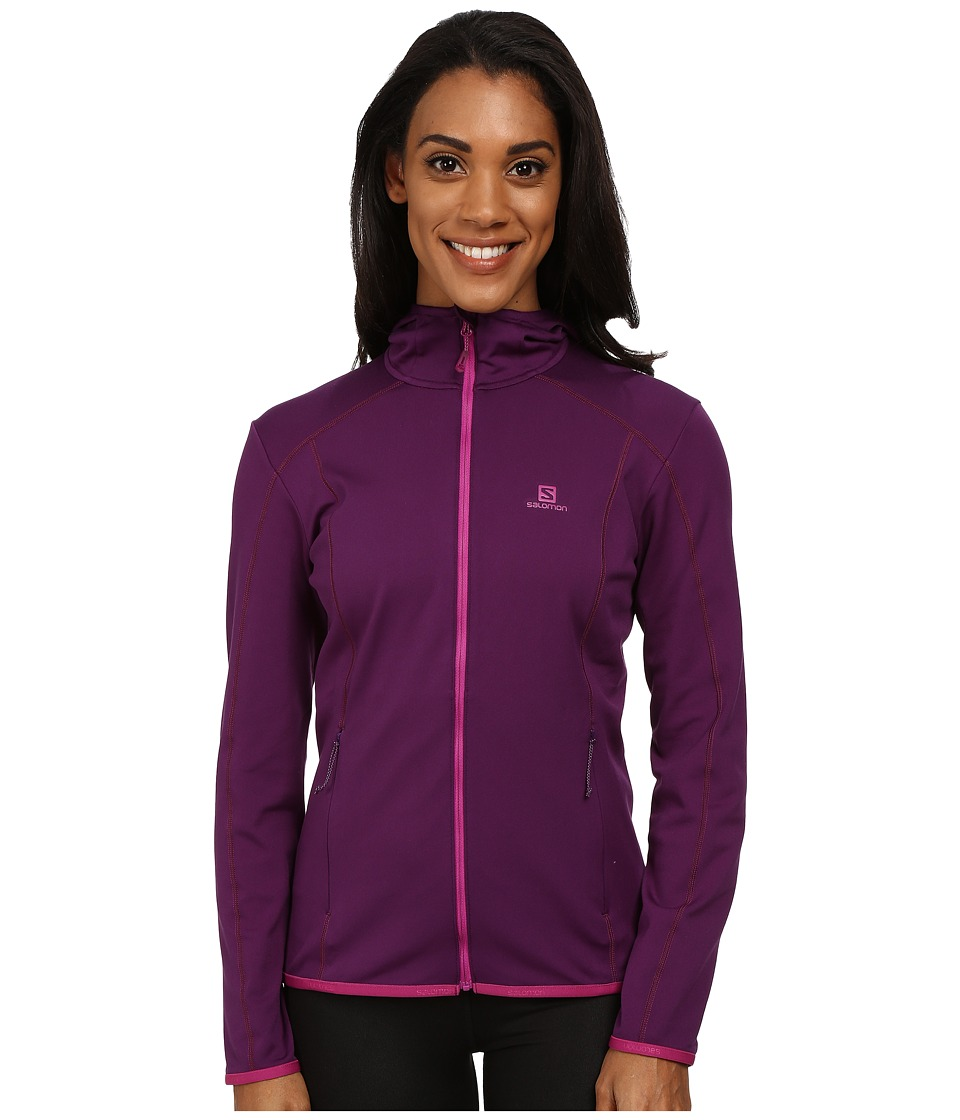 Salomon - Discovery Hoodie (Cosmic Purple) Women's Sweatshirt