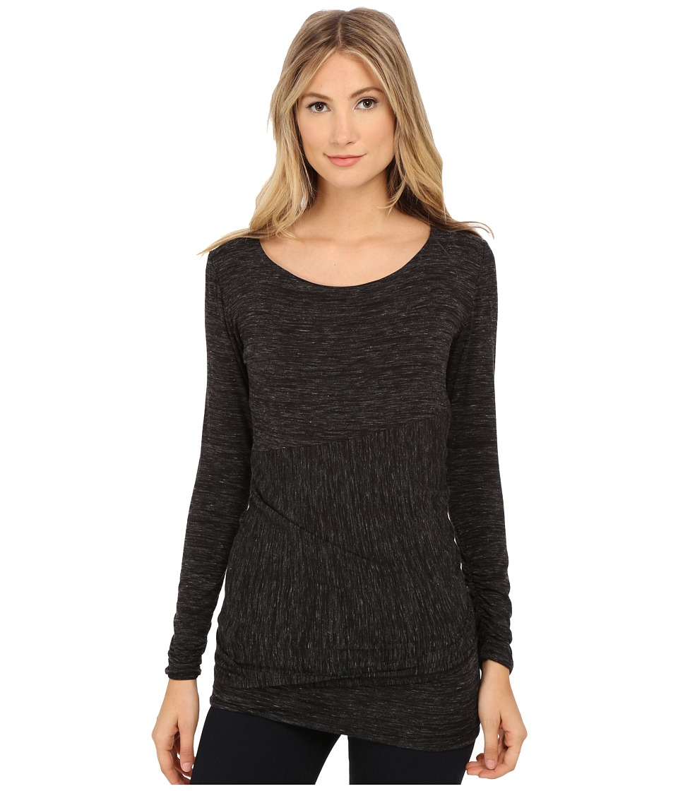 Lysse - Merrit Twist Top (Black Slub) Women's Clothing
