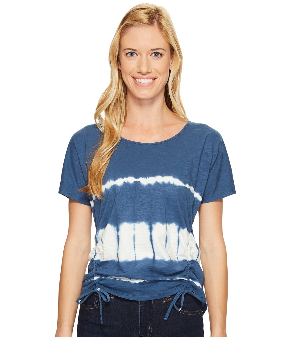 Mountain Khakis - Solitude Short Sleeve Shirt (Midnight Blue Tie-Dye) Women's Clothing