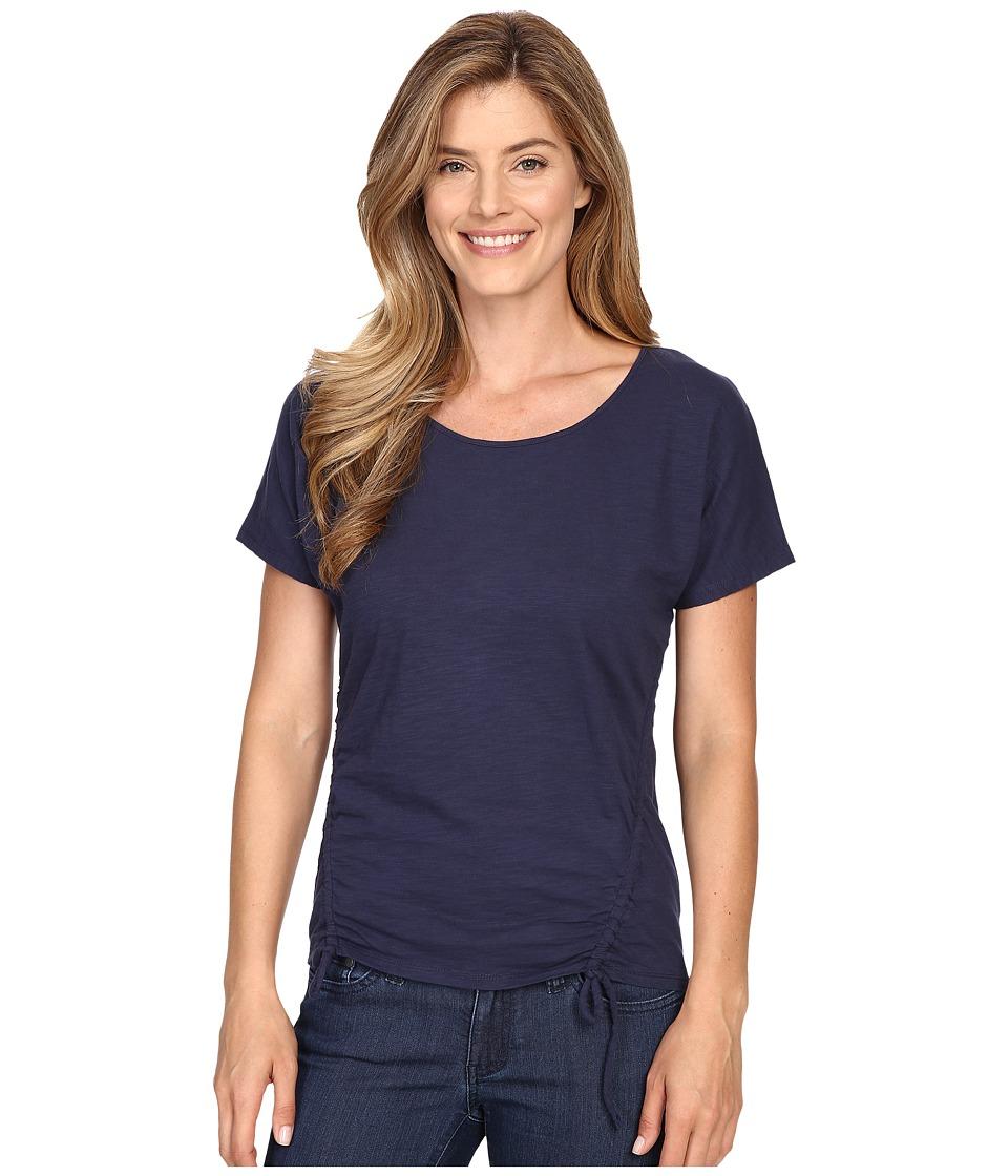 Mountain Khakis - Solitude Short Sleeve Shirt (Midnight Blue) Women's Clothing