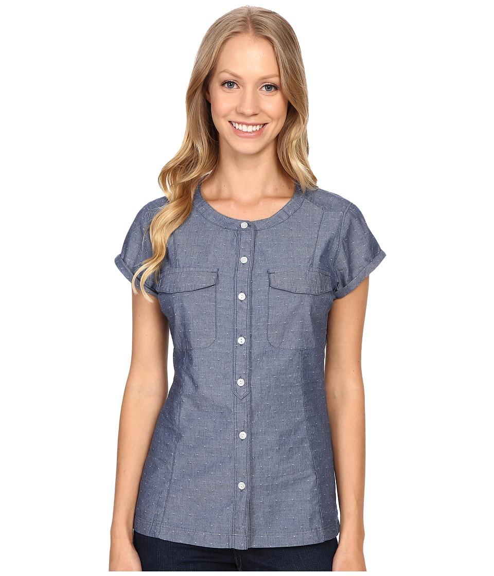 Mountain Khakis - Amie Indigo Short Sleeve Shirt (Polkadobby) Women's Clothing