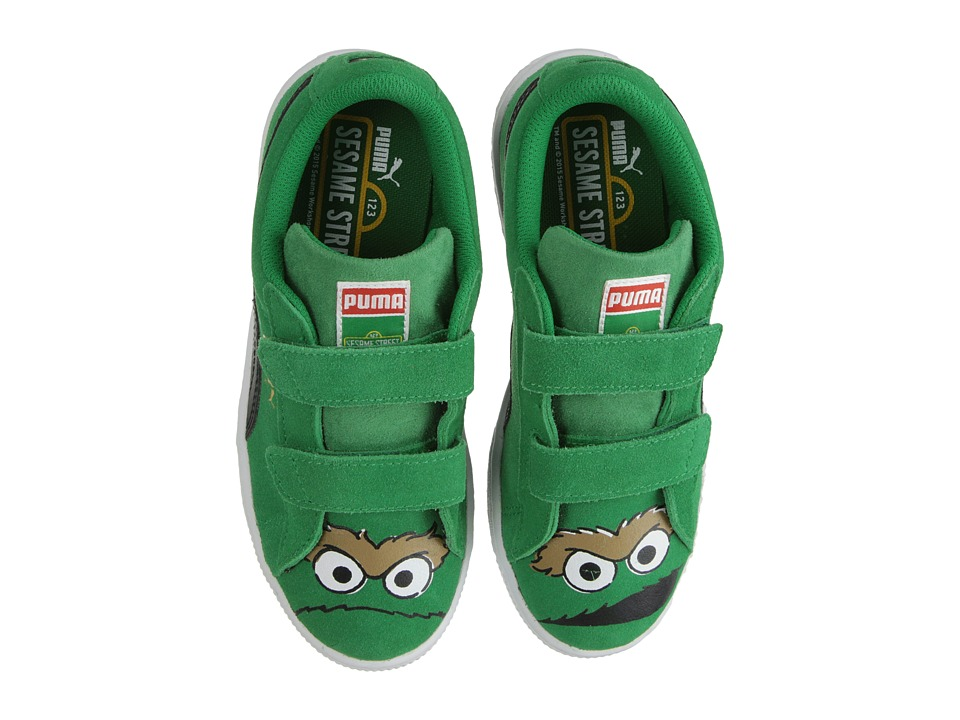 Puma Kids - Suede Sesame Street (Toddler/Little Kid/Big Kid) (Jelly Bean/Black/Oscar) Kids Shoes