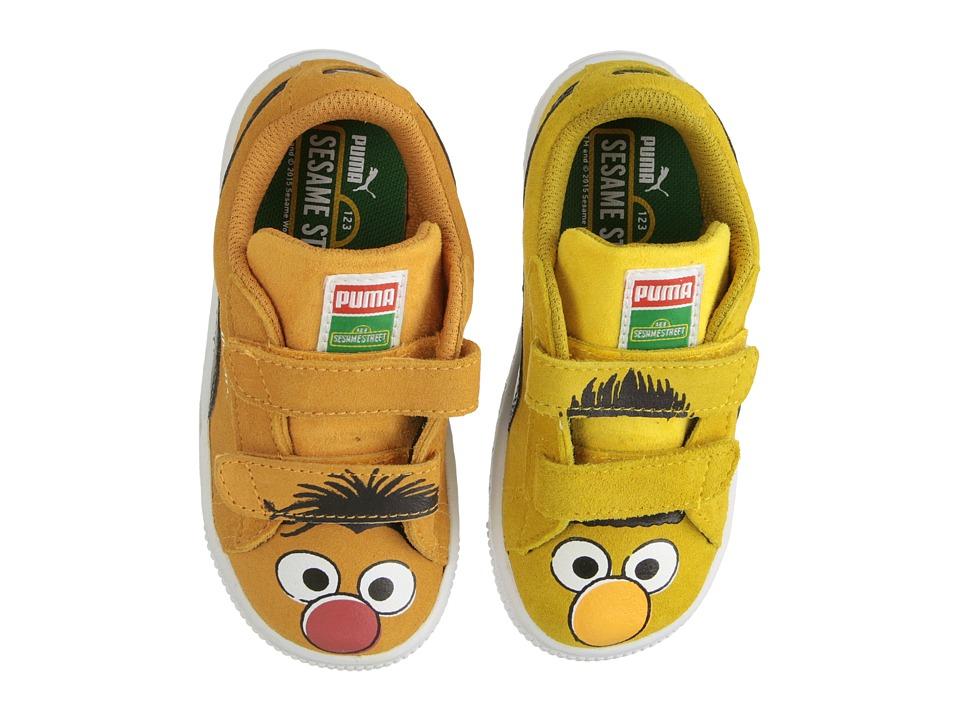 Puma Kids - Suede Sesame Street (Toddler/Little Kid/Big Kid) (Spectra Yellow/Zinnia/Black/E&B) Kids Shoes