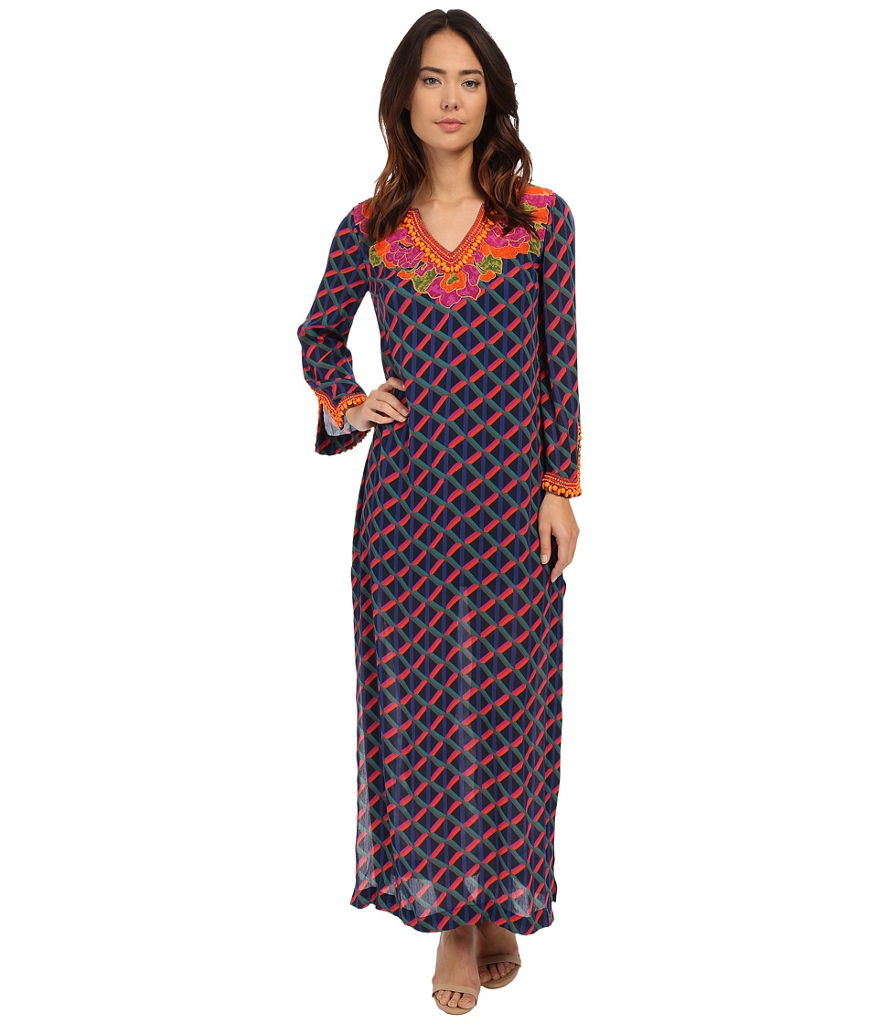 Trina Turk - Tyler Kaftan (Multi) Women's Dress