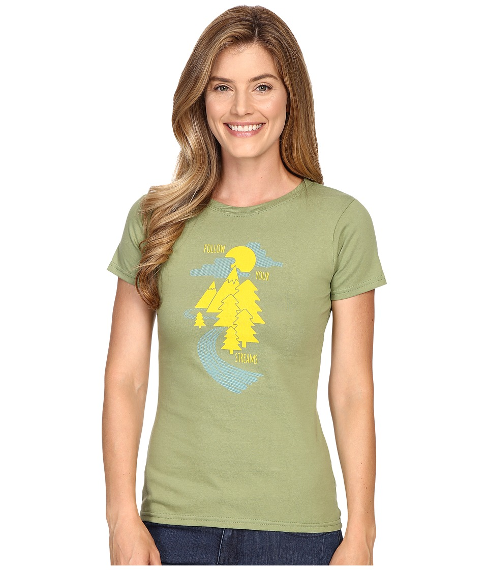 Mountain Khakis - Follow Your Streams Short Sleeve T-Shirt (Wheatgrass) Women's T Shirt